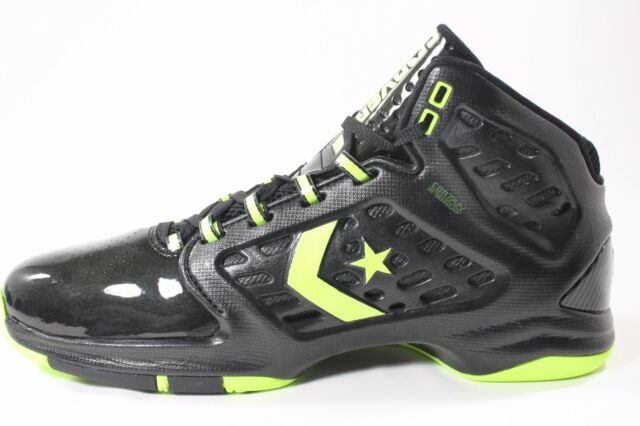 053efa580eb Converse Men s Defcon Mid Size 11.5 Black Neon Yellow Basketball ...
