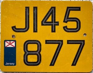 Jersey UK Channel Islands Motorcycle Number License Licence Plate J 145877