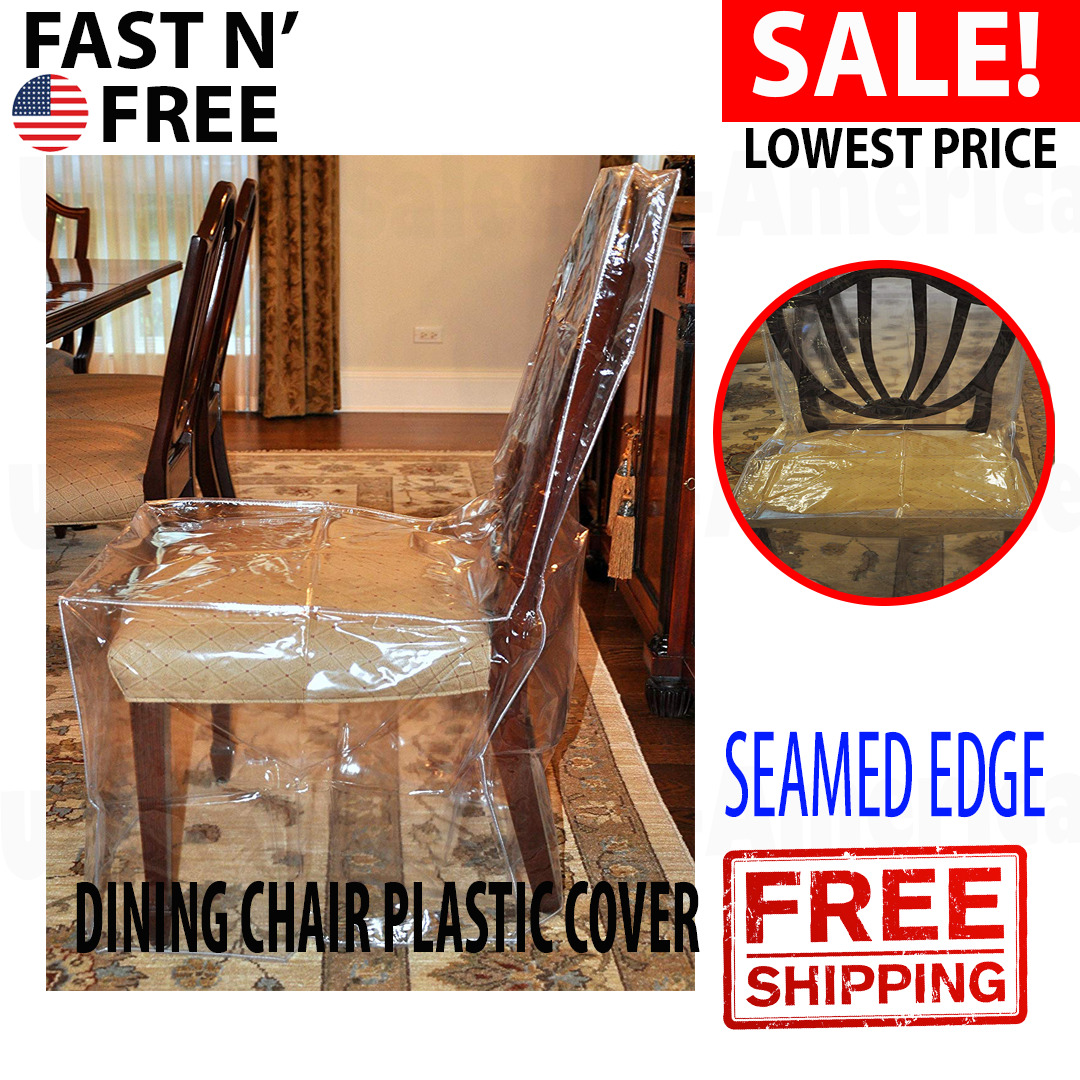 Plastic Dining Chair Covers Furniture Protector Clear ...