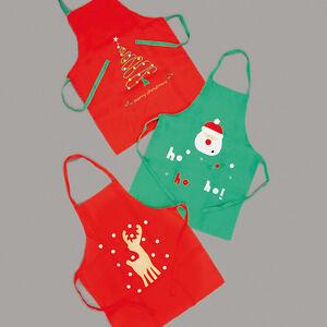 CHRISTMAS-KIDS-ROUDOLPH-SANTA-TURKEY-PRINTED-XMAX-FESTIVE-APRON