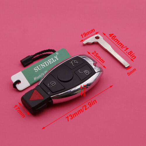 Replacement For Mercedes-Benz IYZ3312 Keyless Entry Remote Car Key Fob Cont