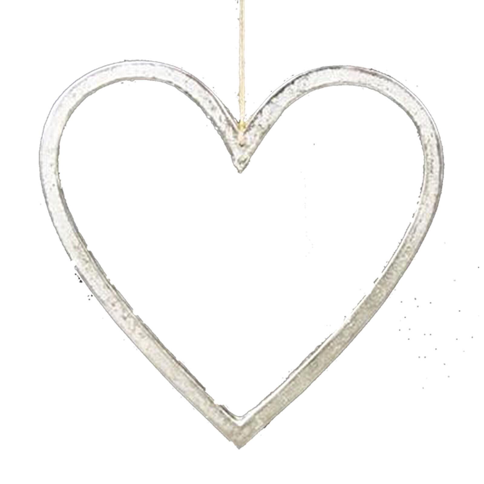 20cm Gran ornamento decorativo de metal en forma de corazón de Bahne homeart