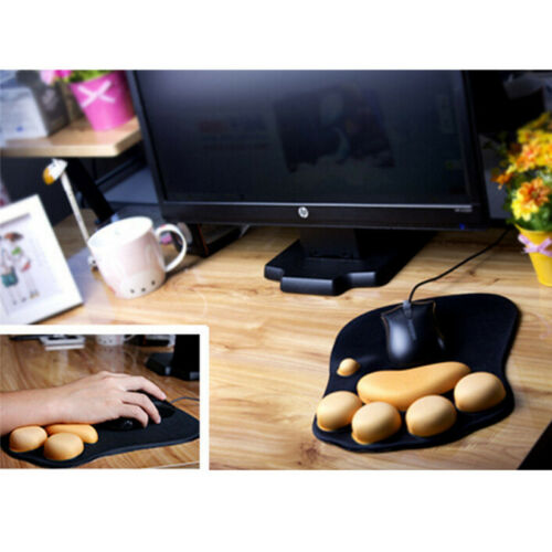 Silicone thickening mouse wrist pad cat paw soft wrist rests wrist cushion desk,
