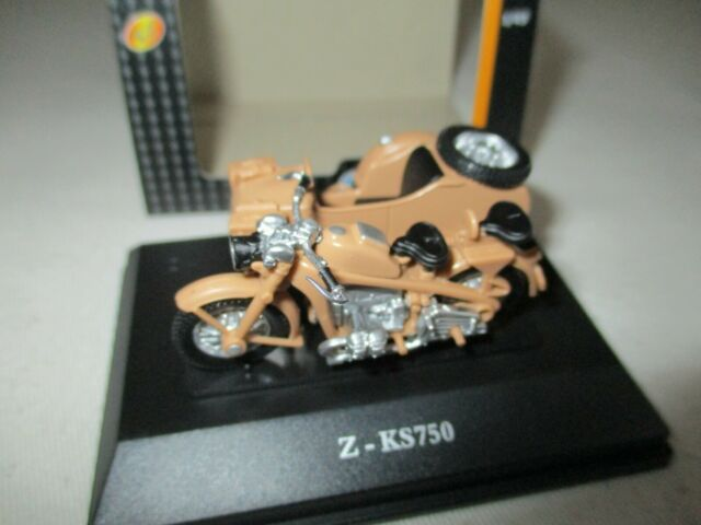Miniatura Side Car Zundap Ks 750 Arena Afrika Kor Alemania Ww 2 1/43 Cararama