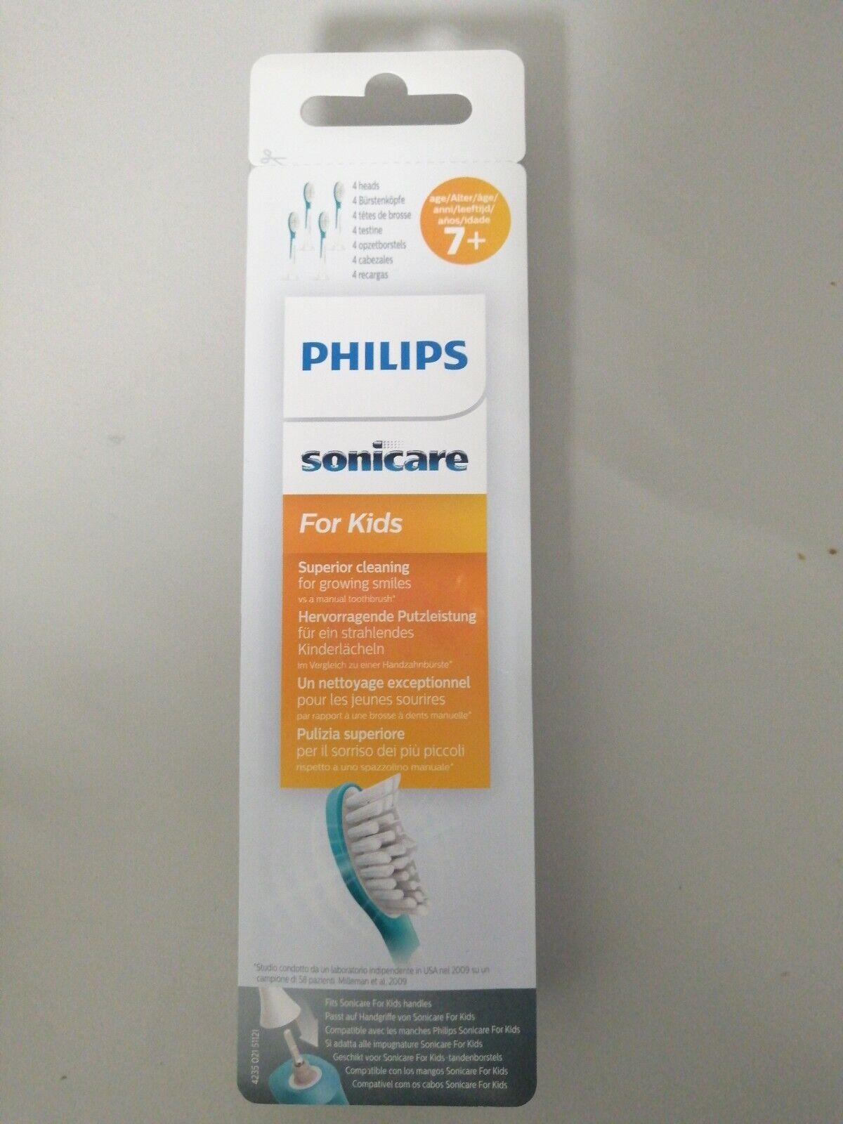 4 Philips Sonicare For Kids Hx604433 Bürstenköpfe Kinder 7 Jahre