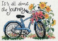 Flower Bycicle Bike Journey Counted Cross Stitch Kit Dimensions 65017