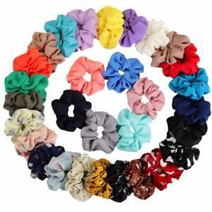 Hair-Bobble-Scrunchies-Chiffon-Flower-Hair-Bow-Elastic-Ponytail-Holder-for-Women