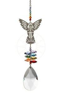 New-Large-Fantasy-Suncatcher-Incorporating-Swarovski-Crystals-Rainbow-Angel