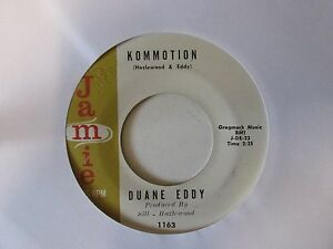 Duane-Eddy-Kommotion-Jamie-1163-Vinyl-7-034-Single-Record-45-VERY-RARE-1960s