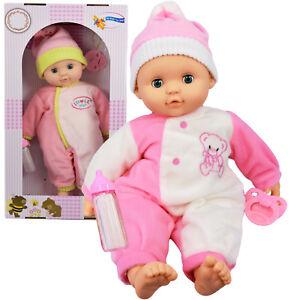 Baby-Doll-Avec-Sons-New-Born-Soft-Bodied-doll-amp-mannequin-FILLES-semblant-Jouer-Jouet