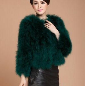 4a2b47376af Image is loading 2019-Real-Ostrich-Feather-Coat-Thick-Lady-Overcoat-