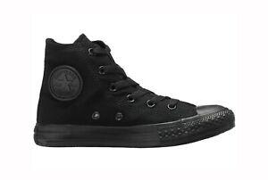 CONVERSE-All-Star-Chuck-Taylor-Hi-Top-Black-Mono-Canvas-Sneakers-3S121-Boy-Shoes
