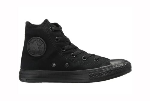 CONVERSE All Star Chuck Taylor Hi Top Black Mono Canvas Sneakers 3S121 Boy Shoes