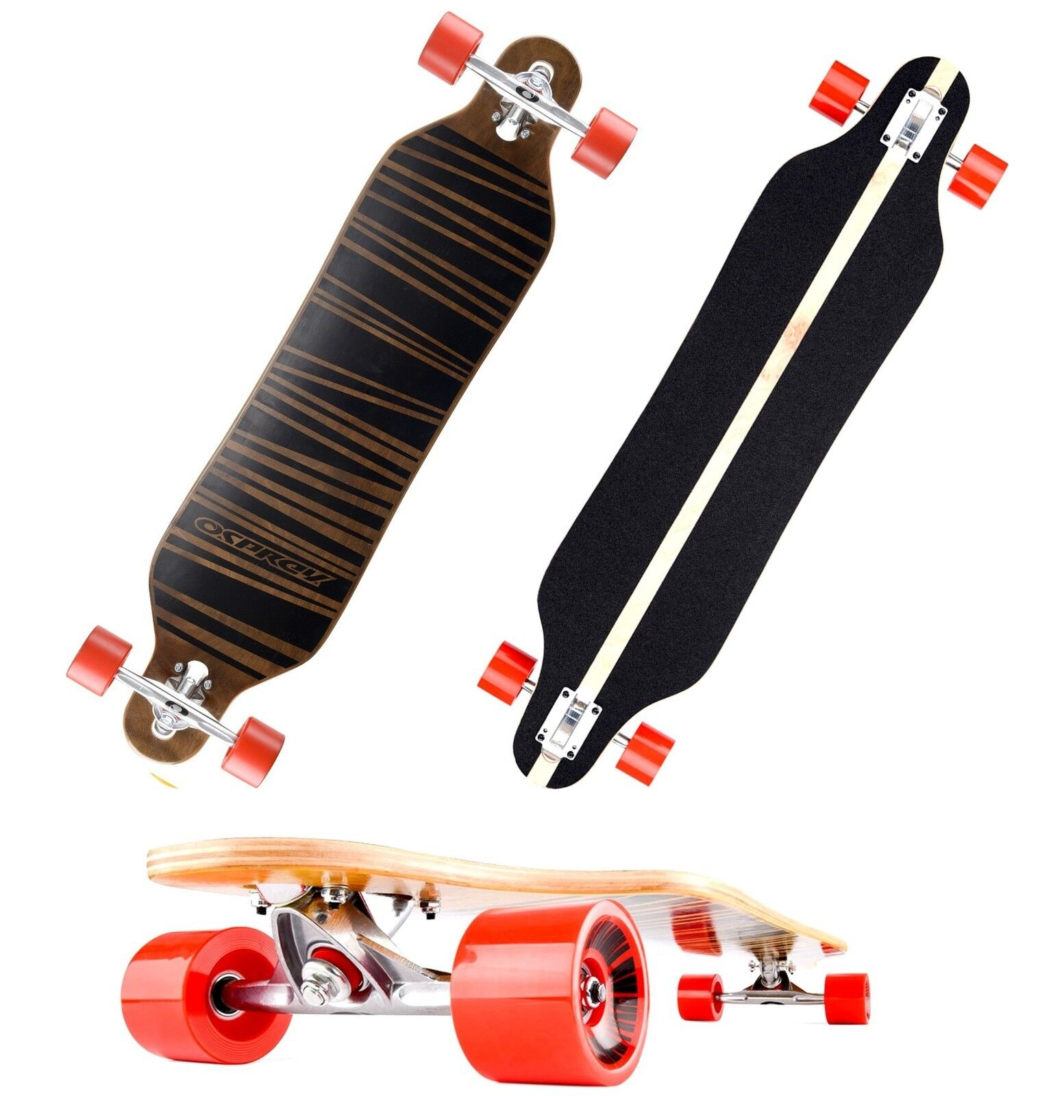 Longboard Longboard Longboard Osprey Line  ABEC 9 Skateboard Neu 852784