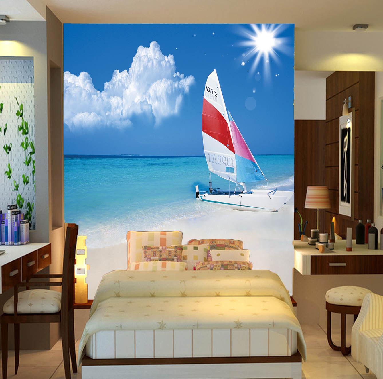 3D Sonne Segeln Strand 84 Tapete Tapete Tapete Wandgemälde Tapete Tapeten Bild Familie DE | Neuer Stil  |  4b604e