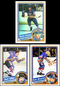 3x-TOPPS-1984-BOB-BOURNE-92-BUTCH-GORING-94-BUTCH-GORING-95-NY-ISLANDERS-LOT