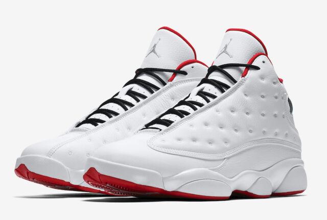 62e690539635 Nike Air Jordan Retro 13 XIII History Of Flight Size 9C-18 White Red 414571