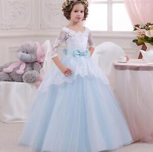 Blumenmädchen Kinder Kleid Ballkleid Kommunion Prinzessin ...
