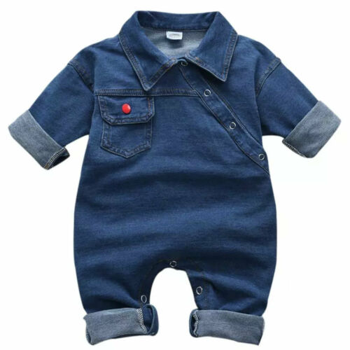 Newborn Baby Boys Girls Romper Jumpsuit Pocket Clothes Outfits Cotton Playsuit