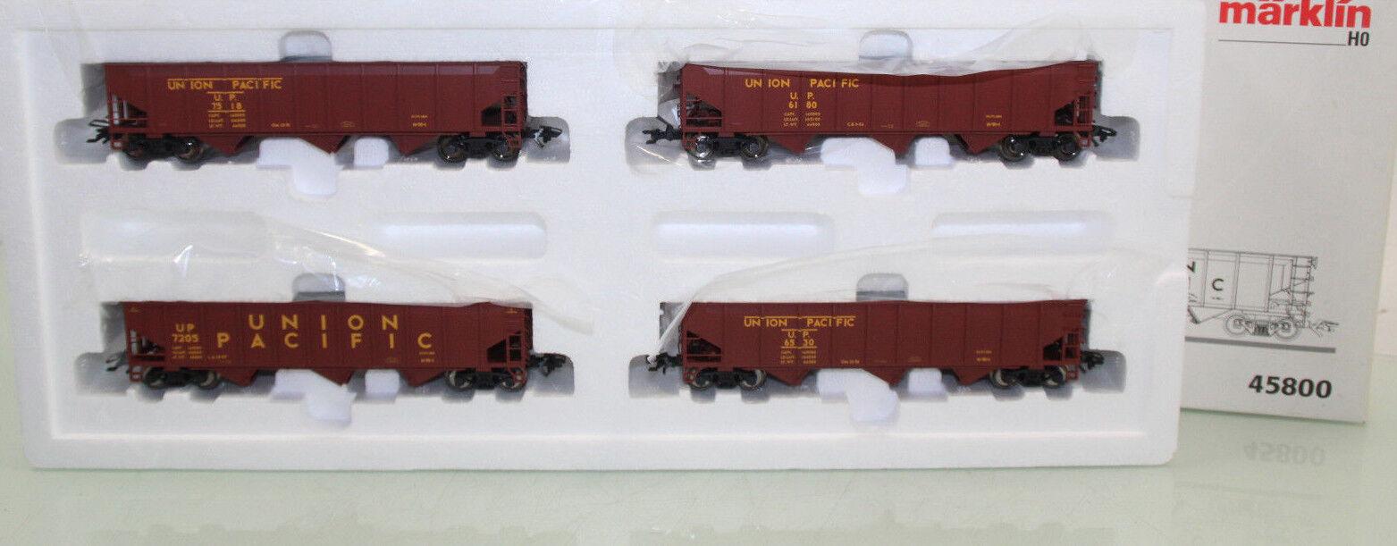 h0 45800 US ammassare carrello Set 4tlg. Union Pacific in scatola originale  nl9970