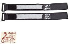 PAIR OF ZEFAL DOOWAH BLACK BICYCLE LEG PANTS BAND STRAPS PAIR HOOK//LOOP CLOSURE