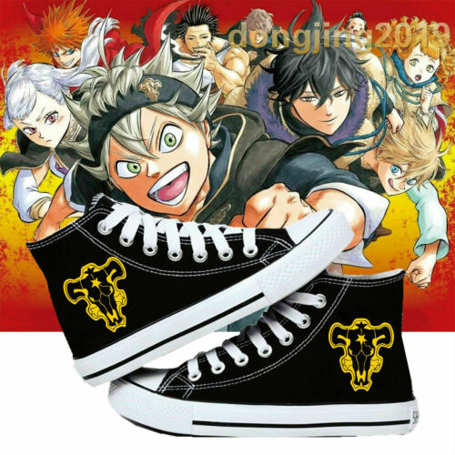 Black Clover Yuno anime cosplay sheos high-top sports canvas shoes