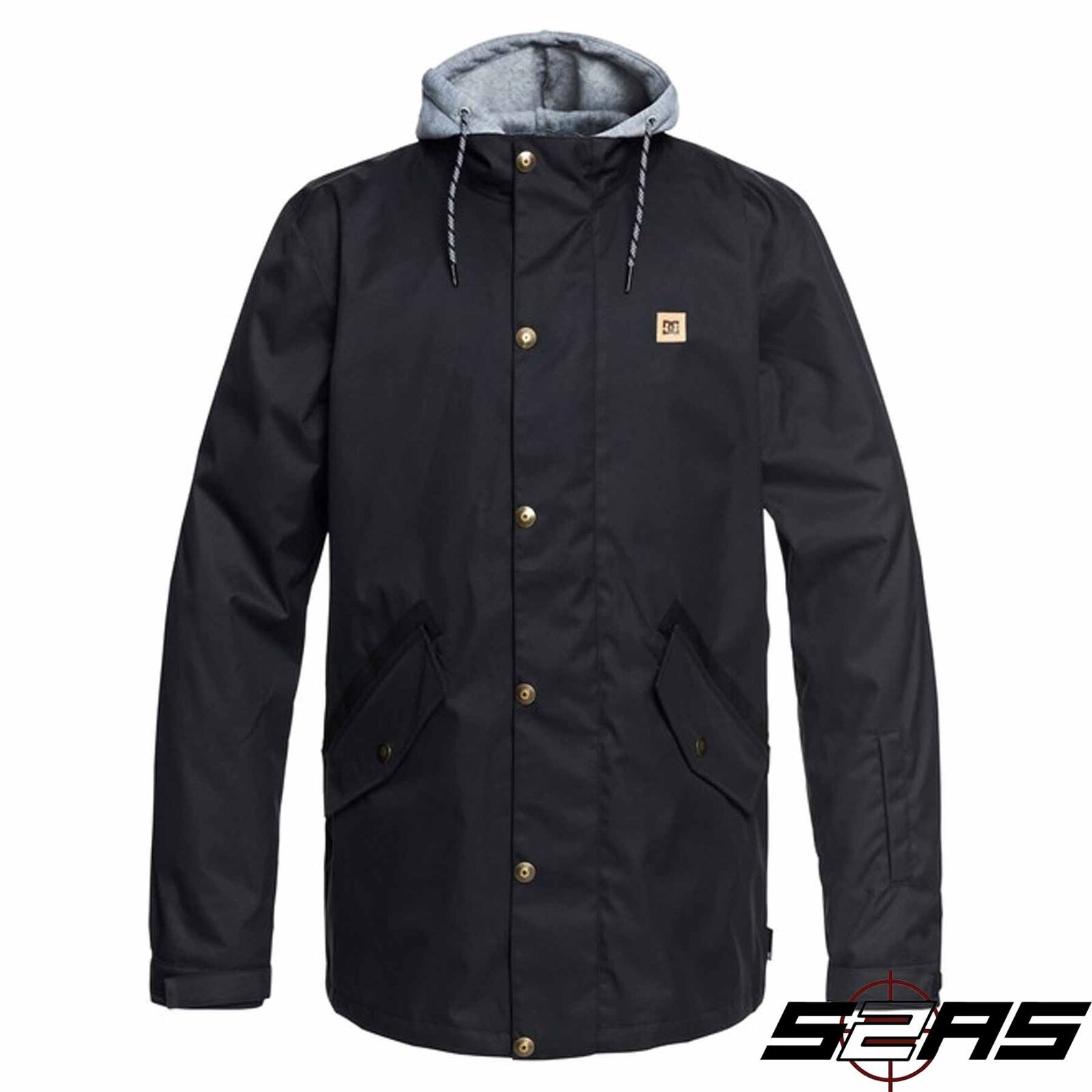 2019 DC chaqueta nieve Unión para hombre (negro)