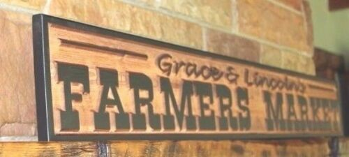 Custom Carved Farmhouse Style Sign Rustic Kitchen Fixer Upper Style Personalized