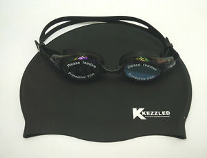 Swimming-Cap-Goggles-Ear-Plug-amp-Nose-Clip-Black-Swimming-Set-By-Kezzled