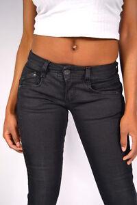 100% Wahr Herrlicher Gila Jeans Db840 Tempest Black Slim Röhre Tolle Nähte 25/26/28/29/30 Verbraucher Zuerst