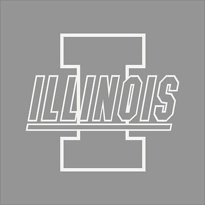Illinois Fighting Illini #3 NCAA College Vinyl Sticker Decal Car Window Wall