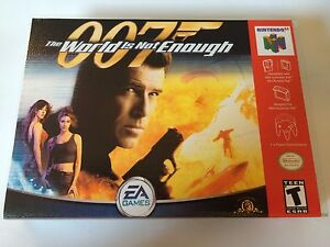 007 The World Is Not Enough N64 Cartridge Replacement Label Sticker Precut Video Game Accessories Faceplates, Decals & Stickers