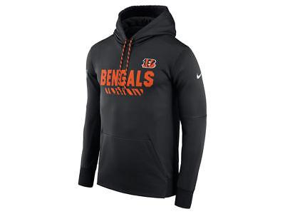 d993a068 Cincinnati Bengals Nike NFL Mens Therma Hoodie Sweatshirt 837414 ...