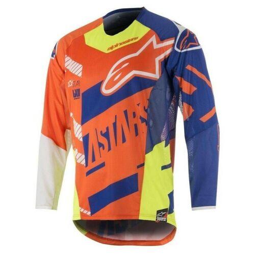 Alpinestars MX Men Jersey S8 Techstar Screamer Orange//Blue//White//Yellow 2X-Large