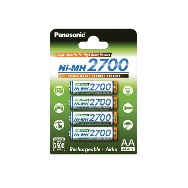 20x Panasonic 2700mah NI-MH BATTERIE BK -3 hgae/4be Nuova, Venditore Tedesco
