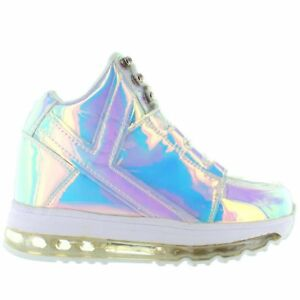 fe43b5e169e655 Image is loading YRU-Qozmo-Aiire-Silver-Atlantis-Light-Up-Sneaker