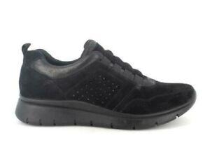 ENVAL SOFT 8255911 sneakers mocassini scamosciato nero memory