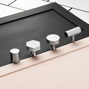 Details About Contemporary Br Silver Cupboard Drawer Cabinet Door S Handles Pulls