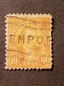 US-Postage-Stamps-1921-Sc-642-10c-Monroe-Used-1-stamp
