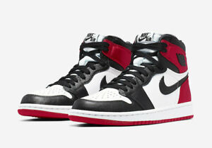 Details zu Nike Air Jordan 1 Retro Satin Black Toe High OG UK 5.5 US 8w  Black White Varsity