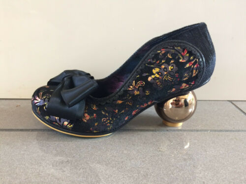 "C Irregular Choice /""NORA Jean/"" noir mi Globe Chaussures à talon"