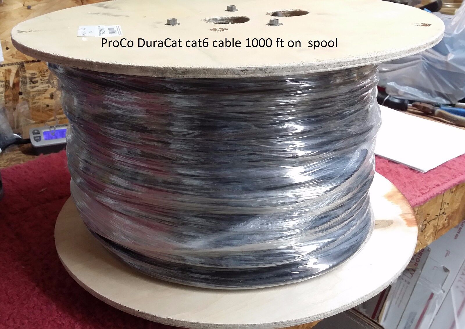 1000 feet ProCo DuraCat cat6 UTP bulk Cable US-MADE Ships FREE to US Zip Codes