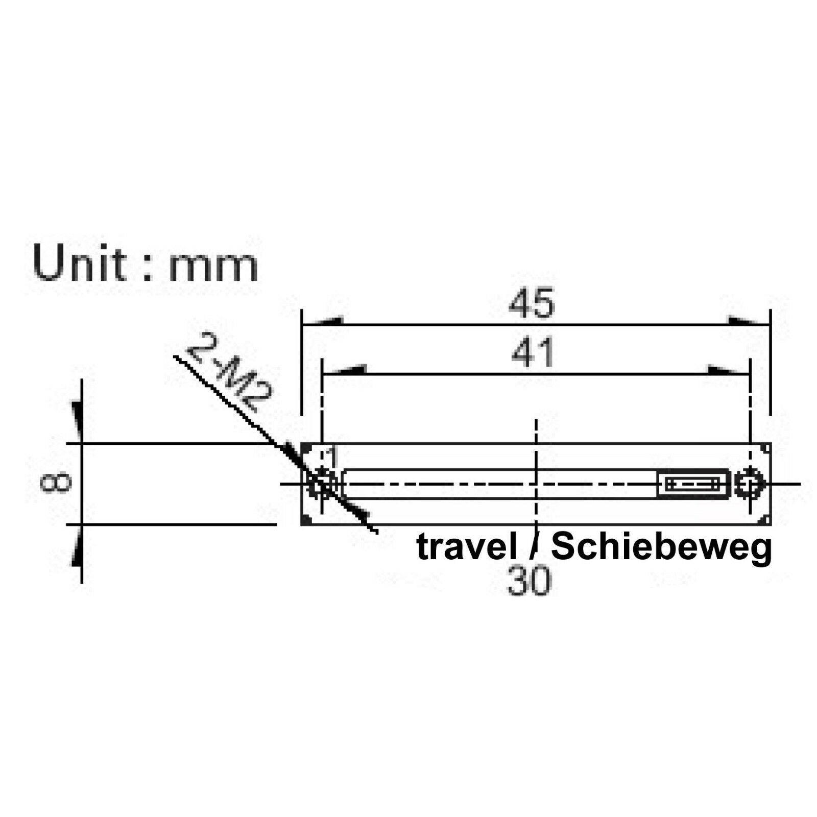 Alps RS30111A602N 10k Mono Lineare Schiebepoti Potenziometro Schiebeweg 30mm