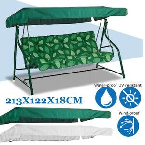 2~3 Seater Garden Patio Swing Chair Canopy Fabric Dust Spare Cover