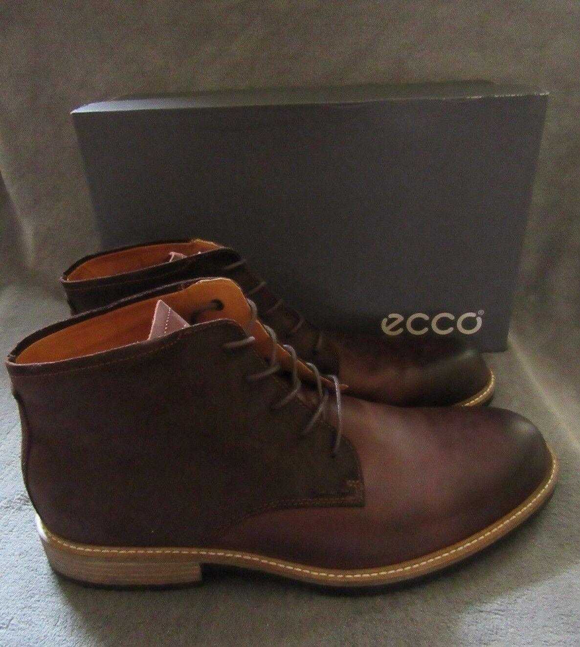 ECCO Kenton Plain Toe Pelle Mocha Derby Stivali Shoes   12 - 12.5 EUR 46 NWB