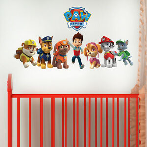 PAW-PATROL-GANG-DECAL-GIRLS-BOYS-KIDS-BEDROOM-VINYL-WALL-ART-STICKER-GIFT