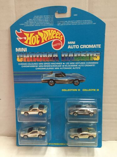 1989 Mattel Hot Wheels Mini Auto Cromate COLLECTION III Micro Chroma Racers MOC