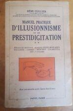 Manuel pratique d'Illusionnisme et de Prestidigitation Remi Ceillier Magic 1948