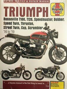 Triumph Bonneville T100 T120 Thruxton Scrambler Bobber Haynes Manual 6401