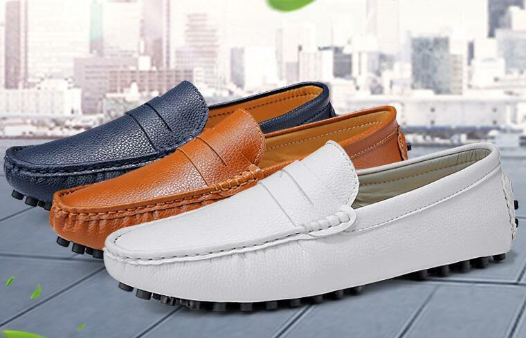 Men's Casual Slip On Loafers Moccasins Soft Flat Driving Boat shoes Sz Hot NEw